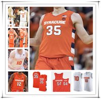 Benutzerdefinierte 2021 Syrakus Orange Cuse Basketball Jersey Buddy Boeheheim Marek Dolezaj Joseph Girard III Elijah Hughes Carmelo Anthony 4XL