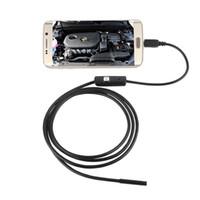 Водонепроницаемый 720 P HD 7 мм Объектив Инспекции Трубы Эндоскопа Мини USB Камера Змея Трубка с 6 Светодиодов Бороскоп Для Android Phone ПК