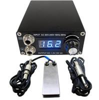 المهنية الرقمية المزدوجة الوشم الأسود التيار الكهربائي عدة مع 1PCS دواسة القدم التبديل 1PCS كليب الحبل شحن مجاني