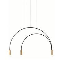 Сообщение современный минималистский геометрический LED подвесной светильник 3 лампы творческий простой личности гостиная спальня столовая комната железа подвесной свет
