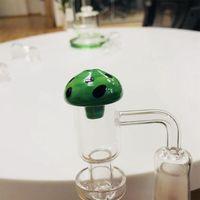 فطر الشكل الزجاج UFO كارب كاب قبة لكوارتز بانجر الأظافر أنابيب المياه الزجاجية ، Dab منصات النفط الزجاج بونغ