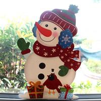 Papel Ornamentos KITPIPI Natal Porta Bem-vindo de suspensão Janela Decoração Pingente Tag de Santa Snowman Charme Janela Pendant