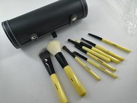 أدوات ماكياج بوبى واحد استحى مجموعة ماكياج مجموعات فرشاة الصوف فرشاة رئيس مقبض خشبي اسطوانة 9PCS / مجموعة أدوات ماكياج