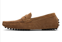 Hot scarpe di cuoio di vendita-genuina pelle scamosciata scarpe ufficiali fannullone grande dimensione dolci mens scarpa passeggiata scarpe alito comodità casuale da viaggio per uomo zy801