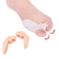 Fußbehandlung Weiche Silikongel Finger Zehen Separator Ausrichtung Bunion Schmerzlinderung Knochen Ectropion Glätter Gesundheitswesen Produkt 2 Farben