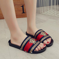 Summer Durable Portrait Pattern Couple Sandals INS Fashion B...