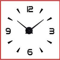 2019 reloj de pared grande reloj de cuarzo espejo de acrílico de bricolaje 37 pulgadas relojes modernos todavía vida sala de decoración del hogar pegatinas 3D que viven