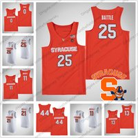 NCAA Syracuse Orange # 25 Tyus Battle 33 Elijah Hughes 34 Bourama Sidibe 15 Carmelo Anthony 30 Geno Thorpe College Basketball Jersey S-4XL
