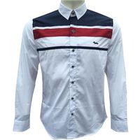 Harmontblaine قمصان سليم صالح عادية قميص رجالي قميص أوم الرجال القميص الصلبة شبكة رجال Hemden Camisa الغمد