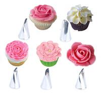 Rose Petal Icing Piping Düsen Edelstahl DIY Kuchen dekorieren Tipps Kuchen-Gebäck-Werkzeuge Kuchen verziert Düsen Blütenblatt Tipps