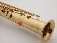 Vaka Aksesuarları Ücretsiz Kargo ile YANAGISAWA W010 Soprano Saksafon Pirinç Düz Boru Pirinç Altın Vernik Sax B Düz Müzik Aleti