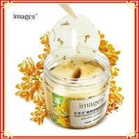 80 pz bottiglia oro Osmanthus maschera per gli occhi delle donne del gel del collageno del siero di latte di sonno proteine viso cura patch mascara salute