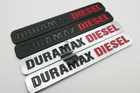 2 개 블랙 크롬의 Silverado 2500 HD의 Duramax 디젤 엠블럼 3D 트렁크 배지 높은 품질