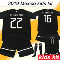 2019 Mexico Kids Kit Soccer Jerseys Gold Cup Home CHICHARITO...