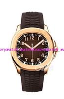 16 Style Luxury Wristwatch Automatic Watch Uomo Black 5167A-001 Quadrante Giorno Rose Skeleton Gomma Band Transparent Back Uomo Guarda