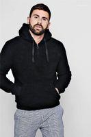 مصمم أزياء هوديي الرباط زيبر كم طويل Velveted ضبابي الدافئة هوديس رجالي فاخر البلوز الخريف الشتاء الرجال