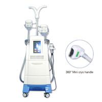 Las nuevas ideas de productos 2020 multifuncional 4 crio congelación de grasa pieza de mano crioterapia adelgazamiento de cavitación rf eliminación de la celulitis grasa máquina de la belleza