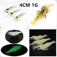 1pcs 4 centimetri 1g silicone del gambero di simulazione di pesca richiamo morbido adesca i richiami di pesca Tackle g-005