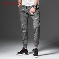 KUANGNAN Camouflage Caviglia Pantaloni Uomo Abbigliamento 2018 Hip Hop Camo Pantaloni Uomo Giapponese Streetwear Casual 4XL