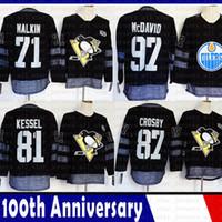 Pittsburgh Penguins 81 Phil Kessel 87 Sidney Crosby 71 Evgeni Malkin Eishockey Jersey Edmonton Oilers Steven 91 Stamkos Connor 97 McDavid