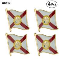 U.S.A. Florida-Flagge Pin-Revers-Abzeichen Brosche Icons 4PC