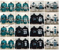 2019 San Jose Sharks, 65, Erik Karlsson, 88, Brent Burns, 9, Evander, Kane, 8 Joe, Pavelski, 19, Joe, Thornton, 39, Logan, Couture, Costurado, Hockey, Jerseys