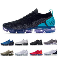 nike air vapormax flyknit 2 2019 New Hot Punch Running Chaussures de sport Vast Grey Gym Bleu Neutre Olive Team Rouge et Noir Laser Orange En Plein Air Femmes Hommes Baskets