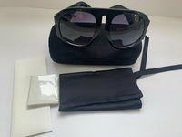 Luxury OVERSIZE RUNWAY-SONNENBRILLEN Mit Original-Box SCHWARZ 0152 Marke Designer-Sonnenbrille Mit Original-Box Für Frauen Runder Sommer
