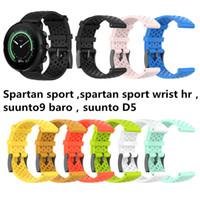 Substituição exterior Desporto Silicone Watch Band Wrist Bracelet Strap Para Suunto 9 Baro Suunto Spartan pulso esporte HR suunto D5