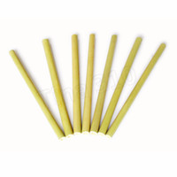 Jaune naturel bambou paille réutilisable de bambou vert bio, Boire, Fête Straws anniversaire de mariage bébé alimentation Straws 4930