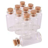 24pcs 20ml 27 * 58 * 12.5mm Petit verre Souhaitant bouteilles avec Bouchonnières bouteilles vides Spice Jars