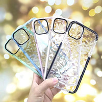 Diamond Case For iPhone 11 Pro XR XS MAX Soft TPU Shockproof Cover Protector Crystal Bling Glitter Rubber Case For Samsung S10 Plus Note10 9