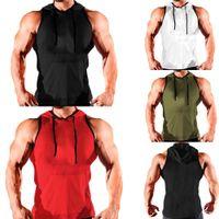 Los nuevos hombres Gimnasio Muscle tanque de la camisa sin mangas Top Sport sudaderas Hombre Causal culturismo Stringer, atlético de la aptitud del chaleco de los hombres Ropa