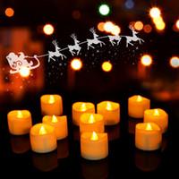 대량 배터리 차 빛 할로윈 뜨거운 노란 빛 무연 LED 촛불 빛 밝은 따뜻한 노란색 불꽃 led 차 촛불 깜박이 12