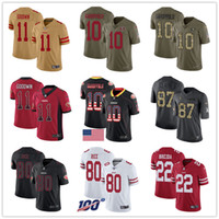 San Francisco Individuelle 49erss Jerseys Joe Montana Jerry Rice Dwight Clark Jimmy Garoppolo Richard Sherman Marquise Damen Herren Jugend-Fußball