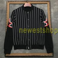 2020 رجل جديد مصمم الأزياء سترة معطف سترة البلوز هوديي الخريف الرياضة الأسود خطوط بيضاء معطف رجالي ملابس الطباعة نجم