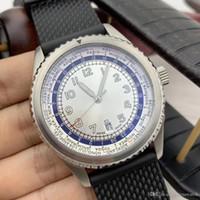 International Travelers Scelta B35 World Time Mens orologi automatici Luminous completa quadrante bianco 46MM Data Orologi da polso Outdoor