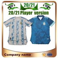 2020 نسخة لاعب الأرجنتين كرة القدم جيرسي 20/21 الأرجنتين بعيدا الأزرق # 10 ميسي لكرة القدم قميص أجويرو icardi دي ماريا كرة القدم الموحدة