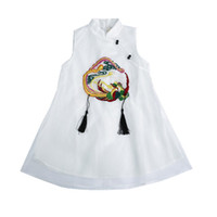 Chinese Style Kids Girls Improved Cheongsam Dresses Phoenix ...