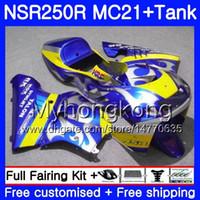 Injectie voor Honda NSR 250R 250 R NSR250R 1990 1991 1992 1993 Blauw Geel Top 264HM.31 NSR250 R RR MC21 PGM3 NSR250RR 90 91 92 93 Valerijen