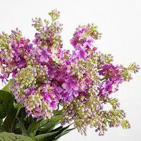 Lilas Fleurs artificielles Belle soie Flores Artificiales Pour la maison de mariage Décoration Faux Diy Couronne Arrangement de fleurs à la main