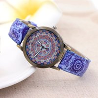 Blue And White Porcelain Bronze Fashion Casual Luxury Analog...