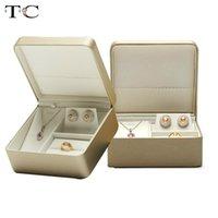 Joyería caja de empaquetado Set artificial joyero de cuero caja de regalo collar de Jewerly grupo de presentación de almacenamiento