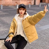 Cotton- padded Clothes Woman Short Winter Hat Loose Coat Wome...