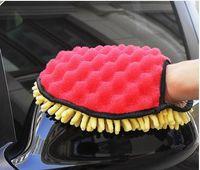 Gants de lavage de voiture chenillés imperméable à l'eau en peluche anéantissent beauté voiture spéciale plumeau main outil de lavage de voiture lingette couvercle