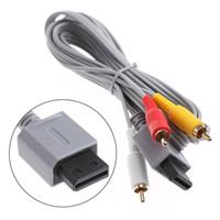 1.8 오디오 비디오 AV 케이블 게임 콘솔 복합 3 RCA 비디오 케이블 코드 와이어 홈페이지 480P 높은 품질에 대한 닌텐도 Wii 콘솔