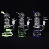 Unique Dab Rig Water Bong Inline Gridded Perc Bubber Oil Rig...