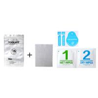 Venda quente kit de limpeza de panos de microfibra para vidro temperado tela do telefone móvel úmido e seco lenços para iphone celular película protetora