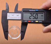 25 mm / 22 mm OD Quartz plat bol de haute qualité pour Quartz Banger titane Domeless Replaceable Oil Rig Nail verre d'eau Pipes Smoking Bongs