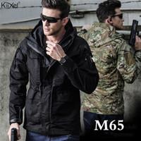 M65 UK US Tactical Jackets Homme Automne Flight Pilot Coat Vêtements Armée Hoodie Casual Vestes terrain militaire coupe-vent imperméable DT191023